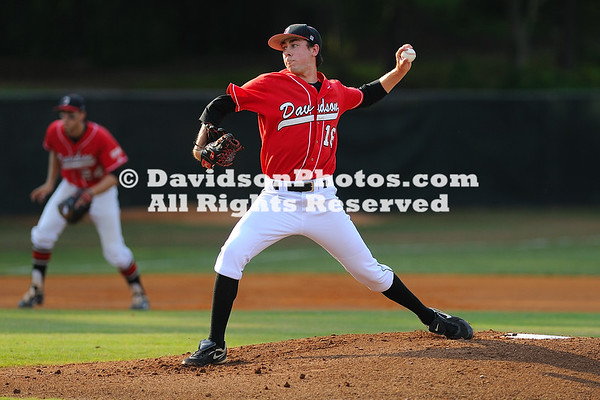 27 April 2012:  Philip Ervin's two-run home run in the top of the seventh inning erased a one-run Davidson lead, as the Bulldogs went on to win 15-6 over the Wildcats in Southern Conference baseball action Sunday afternoon at Wilson Field in Davidson, North Carolina.