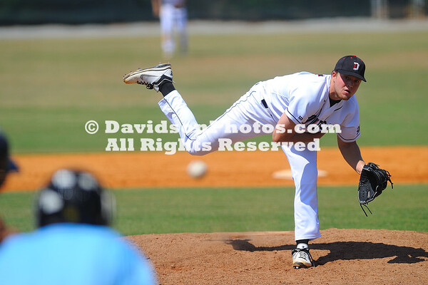 29 April 2012:  Philip Ervin's two-run home run in the top of the seventh inning erased a one-run Davidson lead, as the Bulldogs went on to win 15-6 over the Wildcats in Southern Conference baseball action Sunday afternoon at Wilson Field in Davidson, North Carolina.