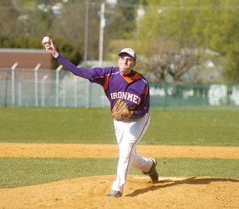 Scott Heeter pitches at Milton on Wednesday.