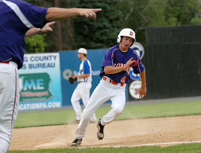 Danville's Dylan Lupini rounds third on his way to score during their game against South Williamsport Thursday May 31, 2012 at Bowman Field in Williamsport.