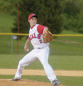 Selinsgrove's Justin Keiser pitches against Line Mountain on Monday.