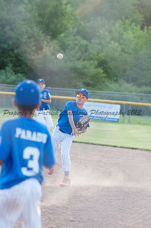 Brady Beausoleil makes a throw to first.