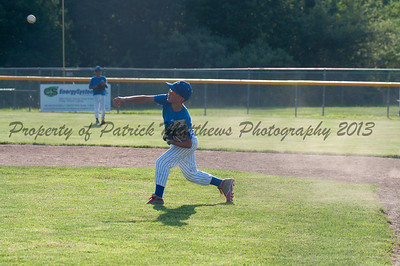 Brady Beausoleil makes a throw home to stop Yalesville from scoring.