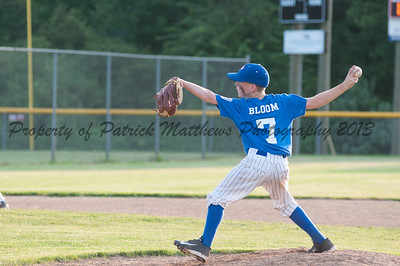 Tanner Bloom pithches the final innings of the game.
