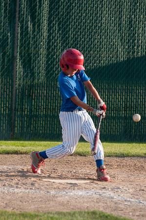 Brady Beausoleil hits the ball.