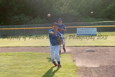 Brady Beausoleil makes a throw to first.