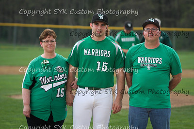 WBHS Baseball Sr Nite vs Canfield-42
