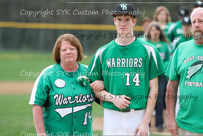 WBHS Baseball Sr Nite vs Canfield-22