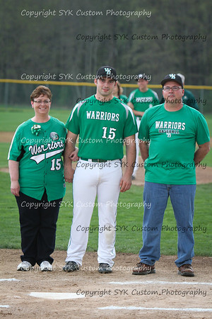 WBHS Baseball Sr Nite vs Canfield-43