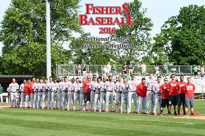 2016 Var Baseball - Westfield, sectional gm2