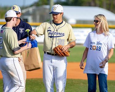 Tiftarea Academy Baseball Senior Night