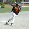 Gardner's Devin Williams rounds third base. SENTINEL & ENTERPRISE / CHARLES STERNAIMOLO