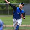 Leominster's Tanner Jakola delivers a pitch during Saturday's win over Marlboro at Doyle Field. SENTINEL & ENTERPRISE / GARYFOURNIERPHOTOGRAPHY.COM
