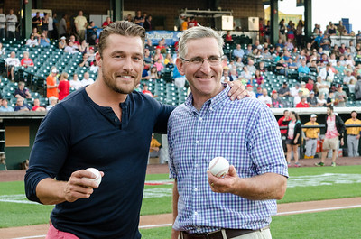 Reality TV star, Chris Soules, and Pennsylvania Agriculture Secretary,  Russell Redding