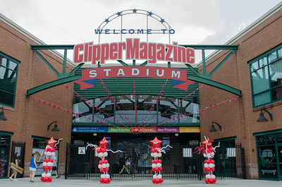 Clipper Magazine Stadium decked out for the Atlantic League All Star Game.