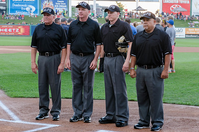 The umpires for the game.