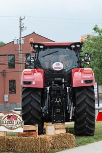 Farm equipment outside Clipper Magazine Stadium