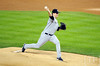 Oct 16, 2012; Detroit, MI, USA; New York Yankees starting pitcher Phil Hughes throws a pitch against the Detroit Tigers in the 1st inning during game three of the 2012 ALCS at Comerica Park.  Mandatory Credit: Tim Fuller-USA TODAY Sports