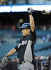 Oct 16, 2012; Detroit, MI, USA; New York Yankees outfielder Ichiro Suzuki warms up before game three of the 2012 ALCS against the Detroit Tigers at Comerica Park.  Mandatory Credit: Tim Fuller-USA TODAY Sports