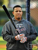Oct 16, 2012; Detroit, MI, USA; Detroit Tigers third baseman Miguel Cabrera before game three of the 2012 ALCS against the New York Yankees at Comerica Park.  Mandatory Credit: Tim Fuller-USA TODAY Sports