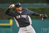 Oct 16, 2012; Detroit, MI, USA; New York Yankees third baseman Alex Rodriguez warms up before game three of the 2012 ALCS against the Detroit Tigers at Comerica Park.  Mandatory Credit: Tim Fuller-USA TODAY Sports