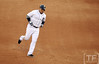 Oct 18, 2012; Detroit, MI, USA; Detroit Tigers third baseman Miguel Cabrera rounds the bases after hitting a two-run home run against the New York Yankees in the fourth inning during game four of the 2012 ALCS at Comerica Park.   Mandatory Credit: Tim Fuller-USA TODAY Sports