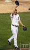 Oct 18, 2012; Detroit, MI, USA; Detroit Tigers starting pitcher Max Scherzer waves to the crowd as he is relieved in the 6th inning during game four of the 2012 ALCS against the New York Yankees at Comerica Park.   Mandatory Credit: Tim Fuller-USA TODAY Sports