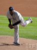 Oct 18, 2012; Detroit, MI, USA;New York Yankees starting pitcher CC Sabathia (52) throws a pitch against the Detroit Tigers in the first inning during game four of the 2012 ALCS at Comerica Park. Mandatory Credit: Tim Fuller-USA TODAY Sports