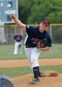 Watsontown's Travis Hendershot sends the ball to the plate during their American Legion game against Milton Wednesday June 27, 2012.