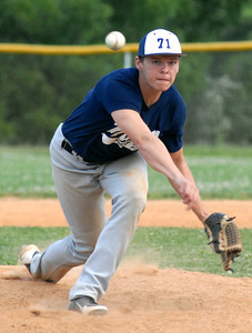 Milton's Cody Shaffer sends a pitch home during their game against Watsontown Wednesday June 27, 2012.