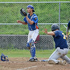 Leominster lets up a run in the second inning during the American Legion semifinal game against Milford on Wednesday afternoon at Pin Cannavino Field. SENTINEL & ENTERPRISE / Ashley Green