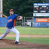 Starting pitcher Tanner Jakola during the American Legion semifinal game on Wednesday afternoon at Pin Cannavino Field. SENTINEL & ENTERPRISE / Ashley Green