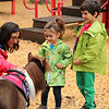 Uma Mdden 2, and her brother Apolo 7 check out the miniature horse with there mother Ruchika who came in from Somerville