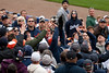 Oct 7, 2012; Detroit, MI, USA; Fans reach to catch a foul ball during the third inning of game two of the 2012 ALDS between the Detroit Tigers and the Oakland Athletics at Comerica Park.  Mandatory Credit: Tim Fuller-US PRESSWIRE