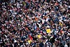 Oct 7, 2012; Detroit, MI, USA; A general view of fans during the seventh inning of game two of the 2012 ALDS between the Detroit Tigers and the Oakland Athletics at Comerica Park.  Mandatory Credit: Tim Fuller-US PRESSWIRE
