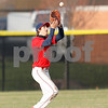 Plainfield Quaker first baseman Jacob Sims (6) makes the catch for the out during the game between the Avon Orioles and Plainfield Quakers at Plainfield High School in Plainfield,IN. (Jeff Brown/Flyer Photo)