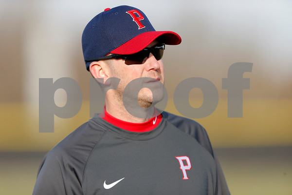 Plainfield Quaker Head Coach Shane Abrell during the game between the Avon Orioles and Plainfield Quakers at Plainfield High School in Plainfield,IN. (Jeff Brown/Flyer Photo)