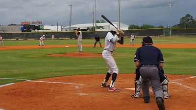 Darius Tisby with single to left-center