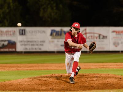 Hue Barker pitching