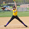 Monty Tech's #3 Kanessa Champney pitches to an Oakmont hitter during the game held at Monty Tech on Thursday afternoon. SENTINEL & ENTERPRISE / Ashley Green