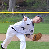 St. Bernard's #14 Zach Merchant took the mound in the first game of a double header against Hopedale on Saturday afternoon in Fitchburg.  SENTINEL & ENTERPRISE / Ashley Green