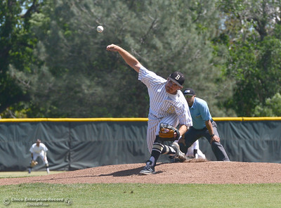 Butte College plays baseball Saturday, April 16, 2016, against Feather River College at Cowan Field in Butte Valley, California. (Dan Reidel -- Enterprise-Record)