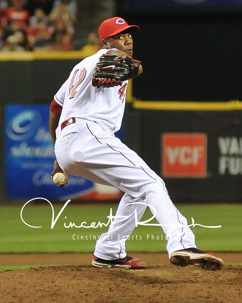 Cincinnati Reds Pitcher Aroldis Chapman photographed by Cincinnati Sports Photographer Vincent Rush of Cincinnati Sports Photography and Ohio Sports Photographers.