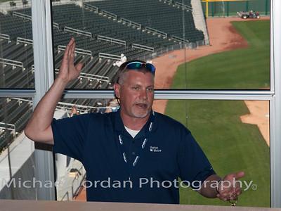 Joseph Marihart from Barton Malow Construction Sevices at the Goodyear Ballpark - Cleveland Indians Spring Training Stadium