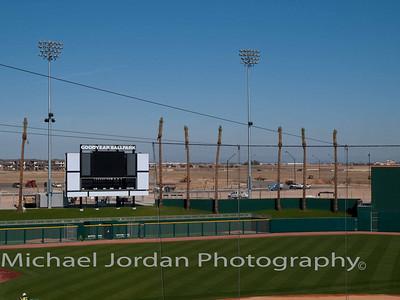 Goodyear Ballpark - Cleveland Indians Spring Training Stadium - is still under construction