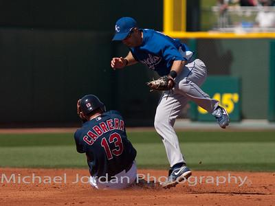 Cabrera Second base slide