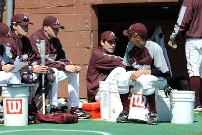 Augsburg College Baseball Team playing St. Olaf College at Parade Stadium in Minneapolis on Saturday April 11, 2009 Order a photo print of any photo by clicking the 'Buy' link above.  TIP: Click the photo above to display a larger size
