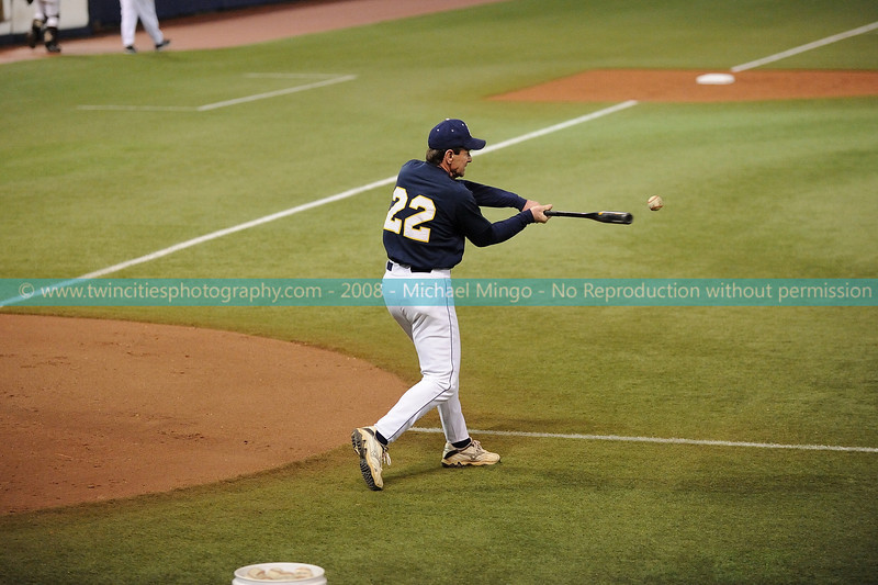 """<font size=""""3"""" face=""""Verdana"""" font color=""""white"""">2008 College Baseball -</font> <font size=""""2"""" face=""""Verdana"""" font color=""""#5CB3FF""""> Augsburg College Auggies playing Carleton College Knights at the Metrodome in Minneapolis on April 10, 2008. </font> <br>"""