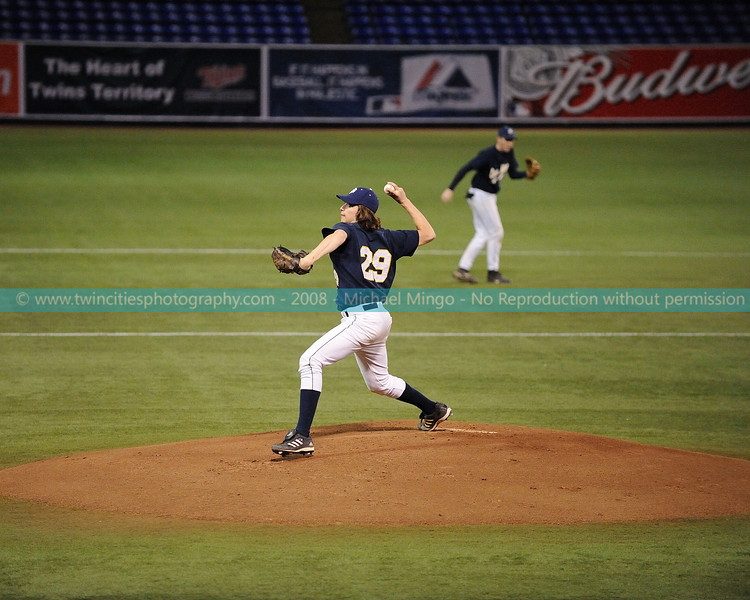 """<font size=""""3"""" face=""""Verdana"""" font color=""""white"""">2008 College Baseball - #29 Michael Servis</font> <font size=""""2"""" face=""""Verdana"""" font color=""""#5CB3FF""""> Augsburg College Auggies playing Carleton College Knights at the Metrodome in Minneapolis on April 10, 2008. </font> <br>"""