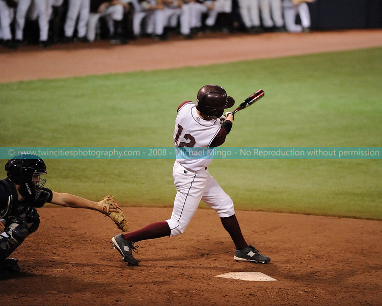 """<font size=""""3"""" face=""""Verdana"""" font color=""""white"""">2008 College Baseball - #12 Jeff Stomberg</font> <font size=""""2"""" face=""""Verdana"""" font color=""""#5CB3FF""""> Augsburg College Auggies playing Carleton College Knights at the Metrodome in Minneapolis on April 10, 2008. </font> <br>"""